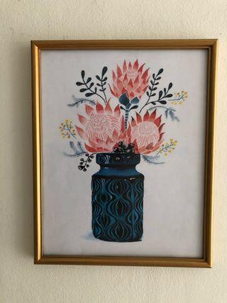 Cuadro floral 30 x 37