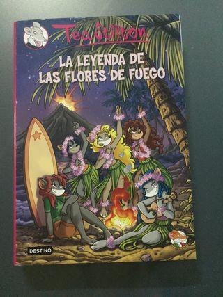 """Libro """"La leyenda de las flores de fuego""""."""