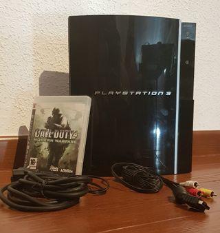 Consola PS3 con juego Call of Duty 4