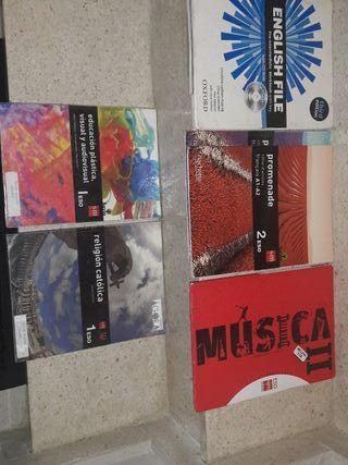 libros de texto de 1 y 2 de la ESO