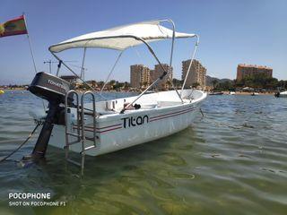 Barco aladroque 3,70,motor 5cv 2t