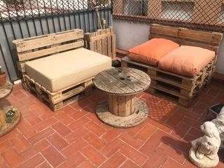 Sofás terraza jardín