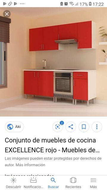 Muebles de cocina aki roja de segunda mano por $250 en ...