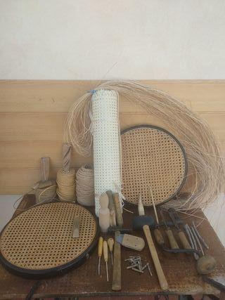 sillas, sillones, mecedoras de rejilla