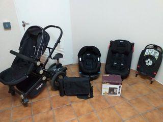 Pack MIGO: silla de paseo, cuco y silla de coche