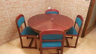 Pack muebles comedor estilo vintage color caoba