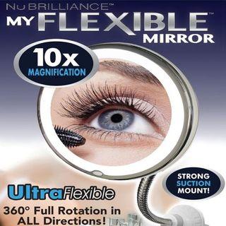 Espejo FLEXIBLE TV 10 Aumentos luz LED Maquillaje