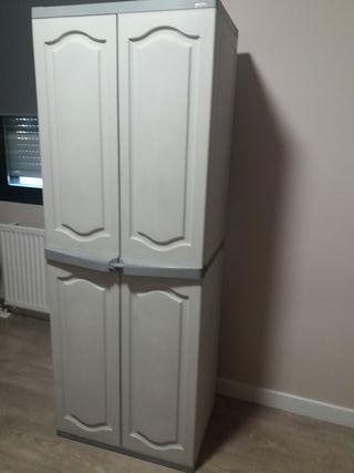 Armario resina 2 puertas, 176x65x45 cm