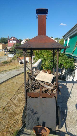 Barbacoa hierro forja