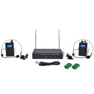 Receptor inalámbricos VHF con 2 auriculares