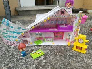 casa de la nieve de Pin y Pon
