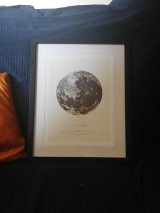 Cuadro Luna marco incluido