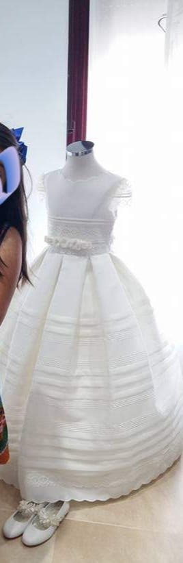 el más baratas diseñador nuevo y usado Venta caliente 2019 Vestido comunión Rosa Clara de segunda mano en WALLAPOP