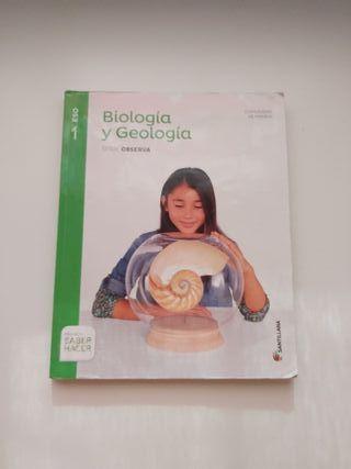 Libro Biología y Geología serie observa 1° ESO