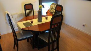 mesa comedor madera de calidad. 6 plazas Ext 8