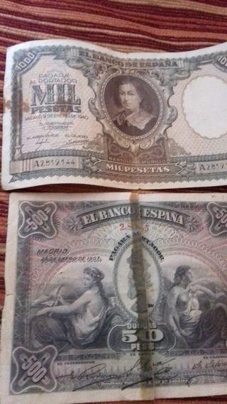 Billetes de España antiguos