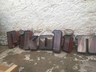 AUTENTICAS letras de fábrica PIKOLIN