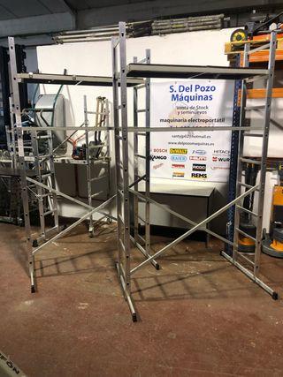 Andamio aluminio nuevo desmontable