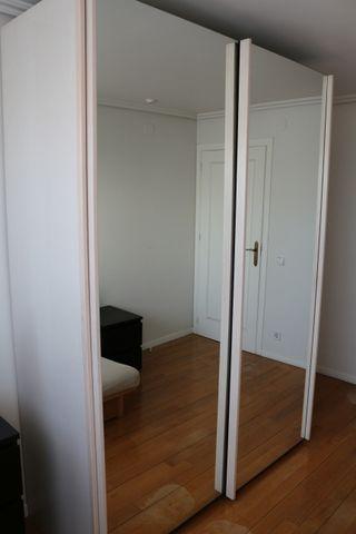Armario dormitorio de 2 puertas de espejo