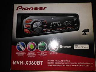 Pioneer MVH-X360BT Radio RDS para coche con USB