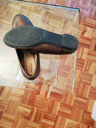 Zapatos mocasines piel muy elegante mujer