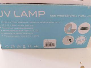 lampara uv 36w para uñas de gel