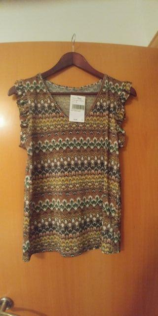 blusa / Camiseta manga corta estampada nueva t M