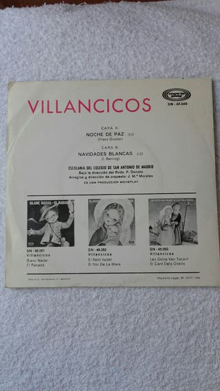 Disco vinilo Villancicos. Single