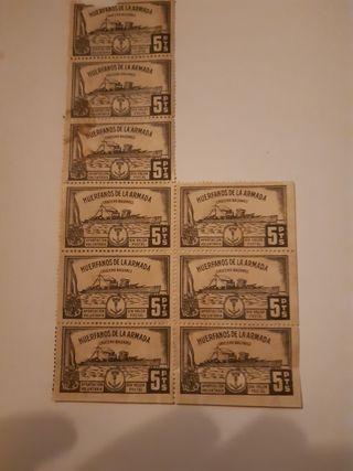 9 sellos pro huerfanos de la armada