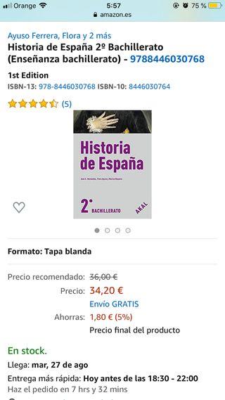 Libro historia de españa 2do bachiller