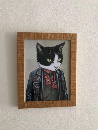 Cuadro gato 18 x 23