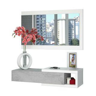 Recibidor moderno con cajon mas espejo