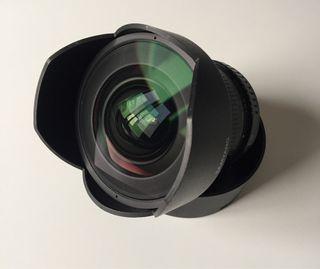 Gran angular Samyang 14 mm para Canon