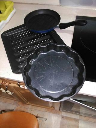 lote molde bandeja de horno y sartén todo a 5e