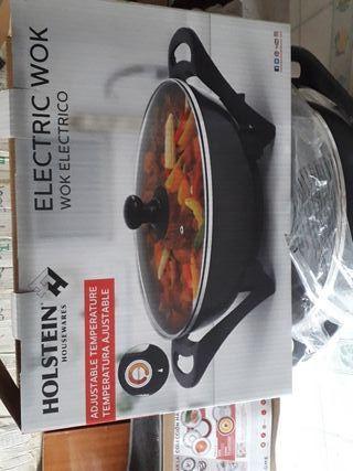Electric wok Adjustable temperatura