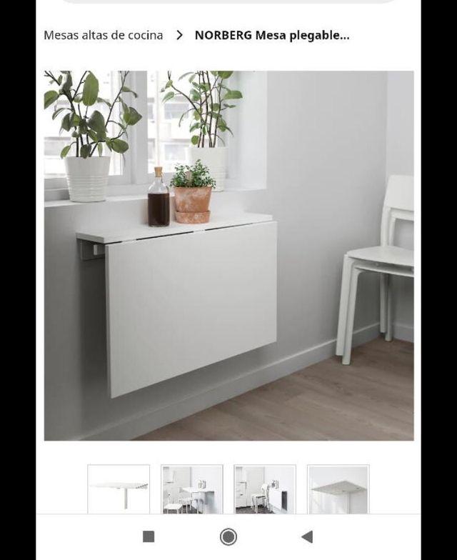 Mesa abatible Norberg IKEA de segunda mano por 25 € en San ...