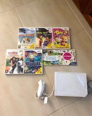 Wii + 7 juegos + mando boxeo
