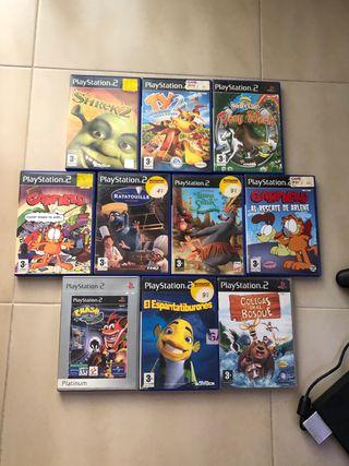Playstation 2 + 10 juegos