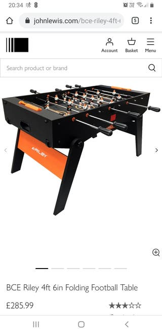 john lewis football table