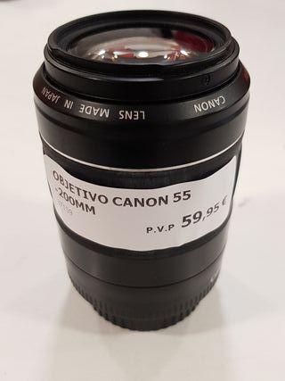 objetivo canon 55 -200mm sin tapa