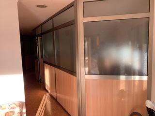 Mamparas aluminio divisorias oficinas cristal