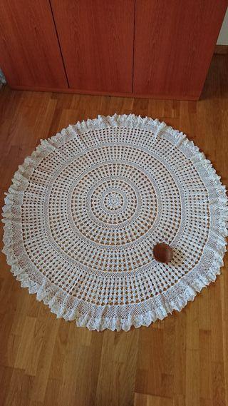 Mantel /tapete mesa redonda