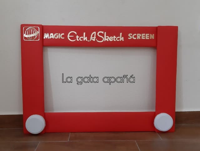 Photocall Etch a Sketch Toy story