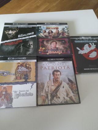 Lote 9 películas 4K UHD Blu-ray