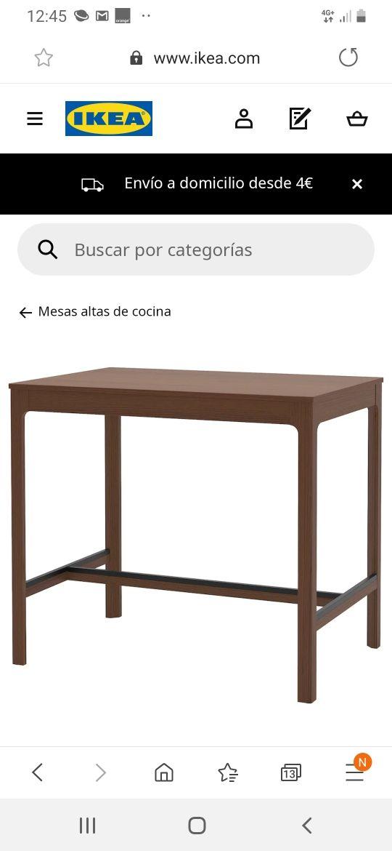 Mesa alta cocina de segunda mano por 80 € en Oliva en WALLAPOP