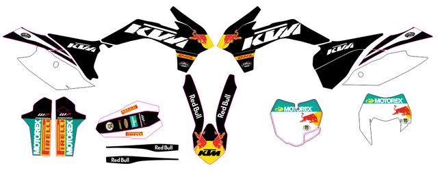 KIT DE PEGATINAS KTM 2014-16 EXC Y 2013-2016 SX