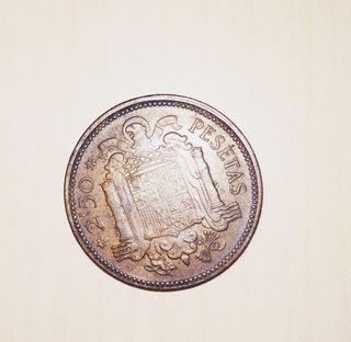 Moneda de 2'5 pesetas 1953 Franco España