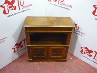 Mueble television castaño 2 puertas 97 cm