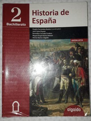 libro de historia de España, 2 de bachillerato