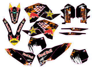 KIT ADHESIVOS KTM 2008-11 EXC, SM, KTM 2006-10 SX